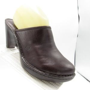 Born W61016 Size 9 Heels Slip On Clogs Mules Shoes